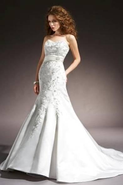 Satin Fishtail Wedding Dress : S satin fishtail wedding dress bridal gown the ivory